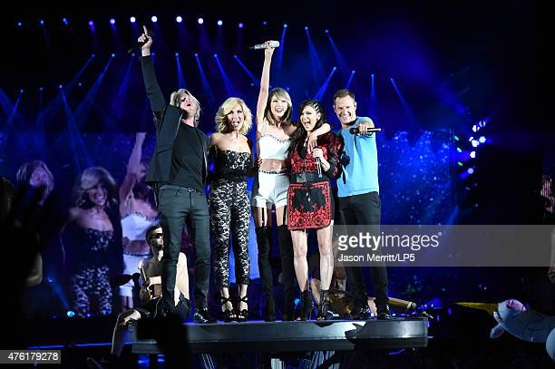 Recording artist Taylor Swift performs with the band Little Big Town during The 1989 World Tour live at Heinz Field on June 6 2015 in Pittsburgh...
