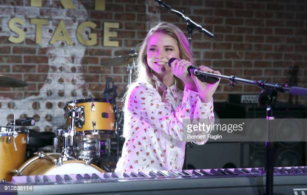 Recording artist Tegan Marie performs at The Studio at Opry City Stage on January 31 2018 in New York City