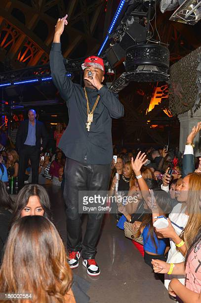 Recording artist Terius 'TheDream' Nash performs during a Halloween celebration at the Chateau Nightclub Gardens at the Paris Las Vegas on October 26...