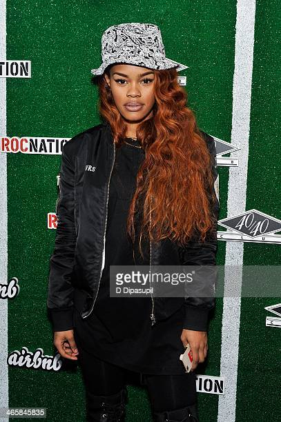 Recording artist Teyana Taylor attends the Airbnb Super Suite at Roc Nation Sports Airbnb's Welcome To New York event at 40 / 40 Club on January 29...