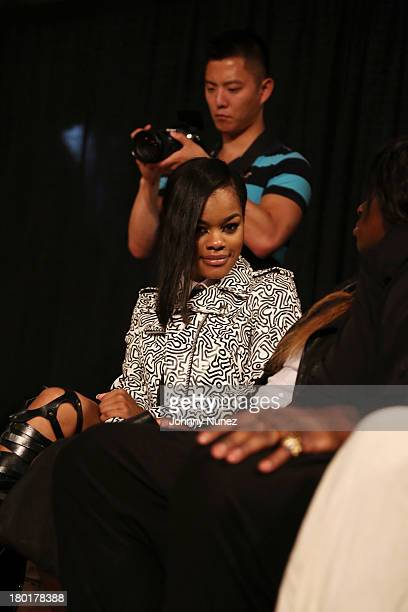 Recording artist Teyana Taylor attends the Michael Anthony Collection presentation during Spring 2014 MercedesBenz Fashion Week at Central Park West...