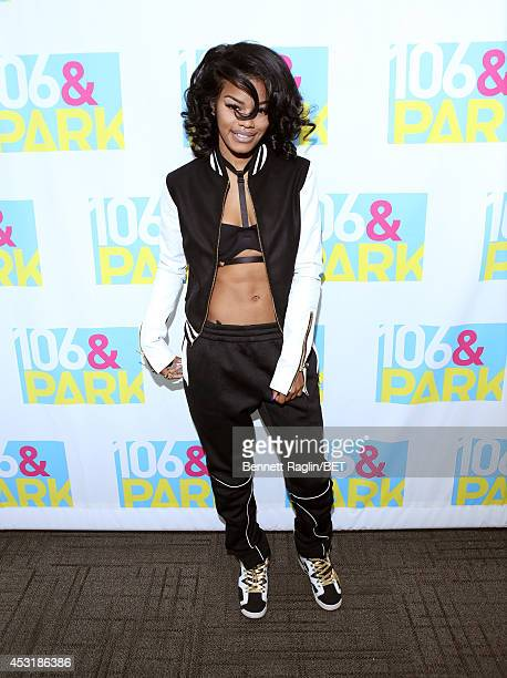 Recording artist Teyana Taylor visits 106 Park at BET studio on August 4 2014 in New York City