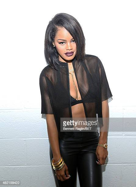 Recording artist Teyana Taylor visits 106 Park at Bet studio on July 14 2014 in New York City
