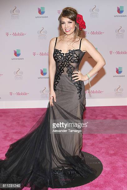 Recording artist Thalía attends Univision's 28th Edition of Premio Lo Nuestro A La Musica Latina on February 18 2016 in Miami Florida
