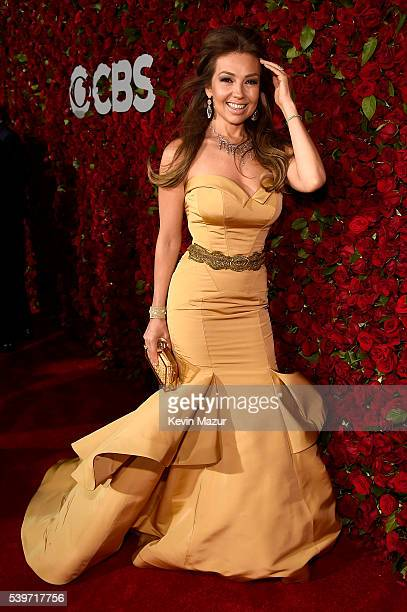 Recording artist Thalia attends the 70th Annual Tony Awards at The Beacon Theatre on June 12 2016 in New York City