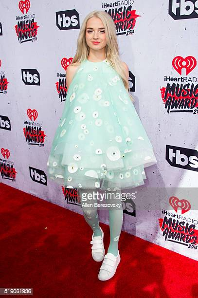 Recording artist That Poppy arrives at the iHeartRadio Music Awards at The Forum on April 3 2016 in Inglewood California