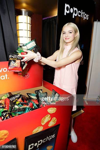 Recording Artist That Poppy at popchips and Westwood One's Backstage at The GRAMMYS at Staples Center on February 13 2016 in Los Angeles California