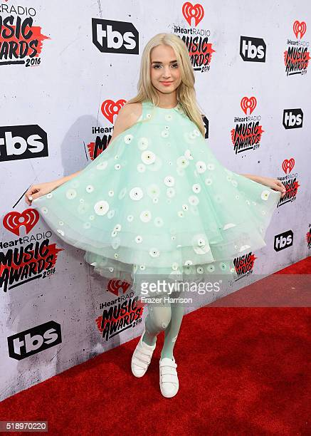 Recording artist That Poppy attends the iHeartRadio Music Awards at The Forum on April 3 2016 in Inglewood California