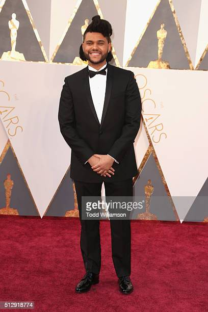 Recording artist The Weeknd attends the 88th Annual Academy Awards at Hollywood Highland Center on February 28 2016 in Hollywood California