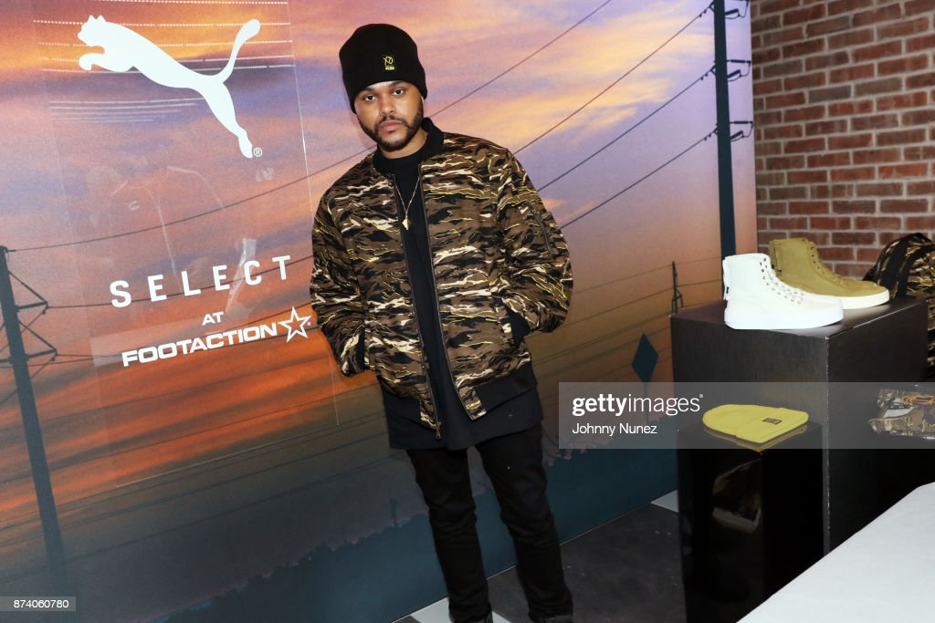 Recording artist The Weeknd attends the Puma XO Pop-Up Shop on November 13, 2017 in New York City.