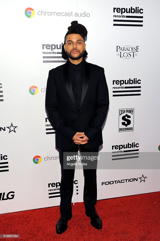 Recording Artist The Weeknd attends the Republic Records Grammy Celebration presented by Chromecast Audio at Hyde Sunset Kitchen & Cocktail on February 15, 2016 in Los Angeles, California.