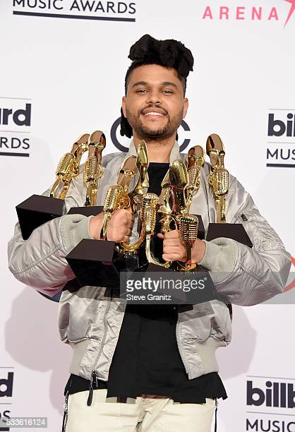Recording artist The Weeknd winner of the Top Songs Sales Artist award Top Radio Song award for 'Can't Feel My Face' Top Hot 100 Artist award Top...