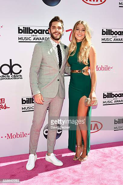 Recording artist Thomas Rhett and Lauren Gregory Akins attend the 2016 Billboard Music Awards at TMobile Arena on May 22 2016 in Las Vegas Nevada