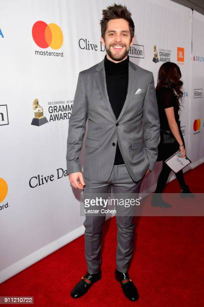 Recording artist Thomas Rhett attend the Clive Davis and Recording Academy PreGRAMMY Gala and GRAMMY Salute to Industry Icons Honoring JayZ on...