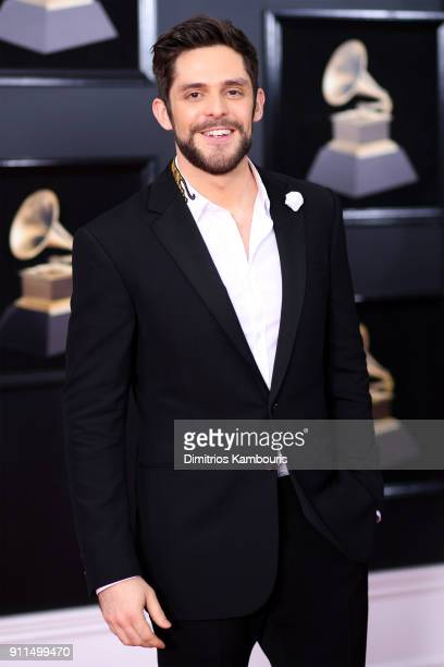 Recording artist Thomas Rhett attends the 60th Annual GRAMMY Awards at Madison Square Garden on January 28 2018 in New York City