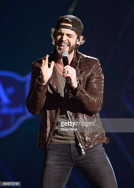 Recording artist Thomas Rhett performs onstage during the American Country Awards 2013 at the Mandalay Bay Events Center on December 10, 2013 in Las...