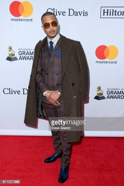 Recording artist TI attends the Clive Davis and Recording Academy PreGRAMMY Gala and GRAMMY Salute to Industry Icons Honoring JayZ on January 27 2018...