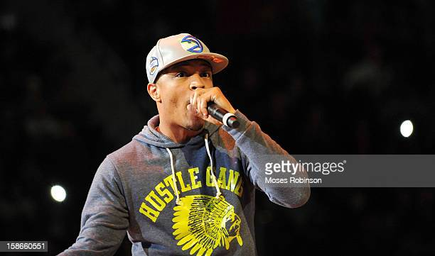 Recording Artist TI performs halftime at the Chicago Bulls vs Atlanta Hawks game at Phillips Arena on December 22 2012 in Atlanta Georgia