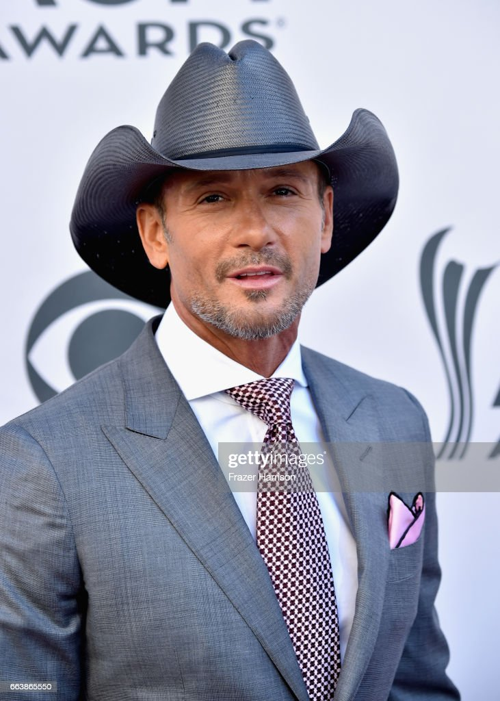 Recording artist Tim McGraw attends the 52nd Academy Of Country Music Awards at Toshiba Plaza on April 2, 2017 in Las Vegas, Nevada.