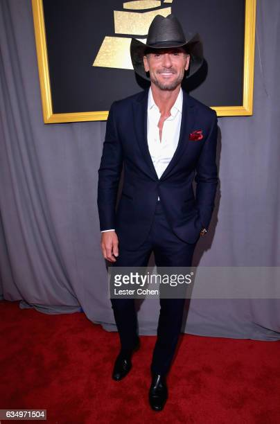 Recording artist Tim McGraw attends The 59th GRAMMY Awards at STAPLES Center on February 12 2017 in Los Angeles California