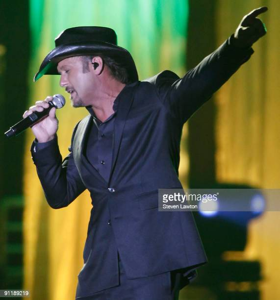 Recording artist Tim McGraw performs at the 14th annual Andre Agassi Charitable Foundation's Grand Slam for Children benefit concert at the Wynn Las...