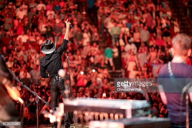 Recording artist Tim McGraw performs onstage during the 2015 iHeartRadio Country Festival at The Frank Erwin Center on May 2 2015 in Austin Texas The...