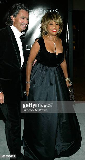 Recording artist Tina Turner and her guest attend Oprah Winfrey's Legends Ball at the Bacara Resort and Spa on May 14 2005 in Santa Barbara California