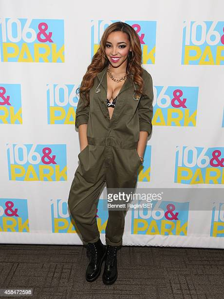 Recording artist Tinashe attends 106 Park at BET studio on November 5 2014 in New York City