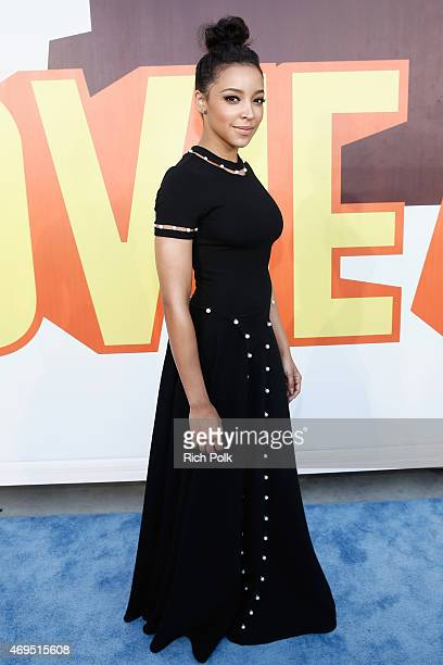 Recording artist Tinashe attends The 2015 MTV Movie Awards at Nokia Theatre LA Live on April 12 2015 in Los Angeles California