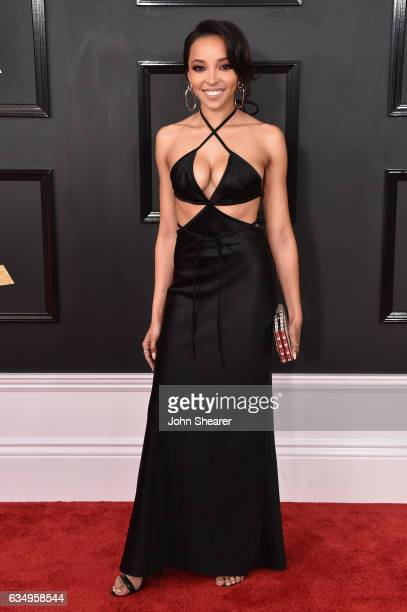 Recording artist Tinashe attends The 59th GRAMMY Awards at STAPLES Center on February 12 2017 in Los Angeles California