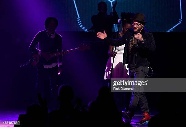 Recording artist tobyMac performs onstage during the 3rd Annual KLOVE Fan Awards at the Grand Ole Opry House on May 31 2015 in Nashville Tennessee