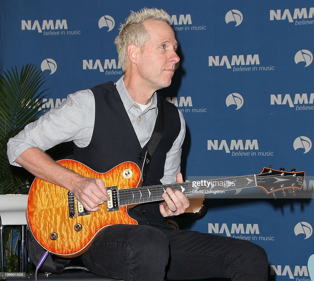 Recording artist Tom Dumont attends the 2013 NAMM Show - Media Preview Day at the Anaheim Convention Center on January 23, 2013 in Anaheim, California.