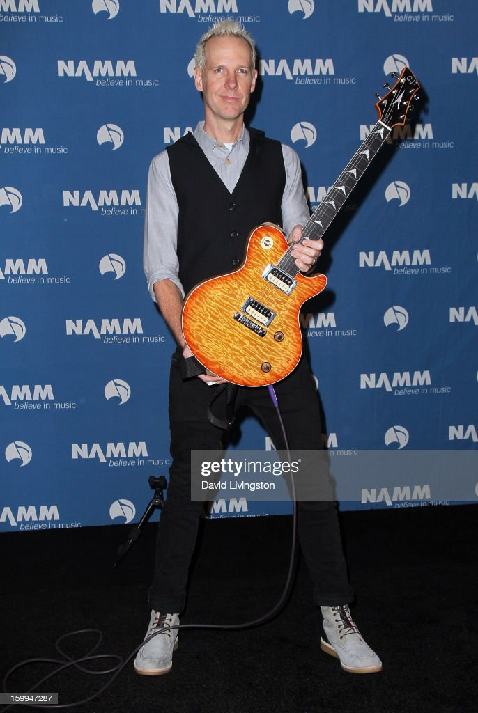 Recording artist Tom Dumont of No Doubt attends the 2013 NAMM Show - Media Preview Day at the Anaheim Convention Center on January 23, 2013 in Anaheim, California.