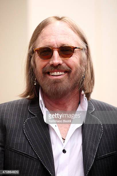 Recording artist Tom Petty attends a ceremony honoring Recording artist Jeff Lynnel wtih a Star on The Hollywood Walk Of Fame on April 23 2015 in...