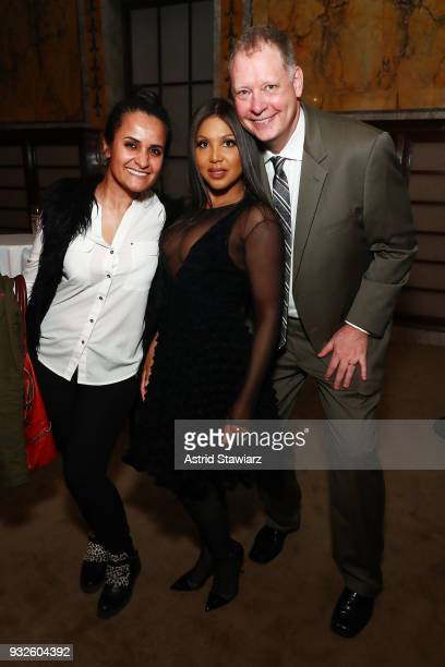 Recording artist Toni Braxton and AE Executive Vice President of National Ad Sales Peter Olsen attend the 2018 AE Upfront on March 15 2018 in New...