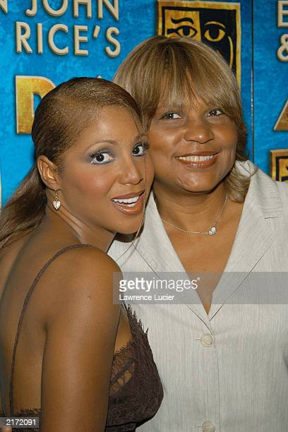 Recording artist Toni Braxton and her mother Evelyn Braxton appear at the after party for Toni Braxton's debut in the Broadway musical Aida July 17...