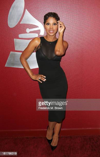 Recording artist Toni Braxton attends A Conversation with Toni Braxton and Kenny Babyface Edmonds at The Recording Academy on September 24 2013 in...