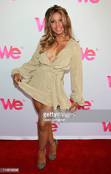 "Recording artist Toni Braxton attends a reunion special taping for the WE TV series' ""Braxton Family Values"" at Occidental Studios on May 28, 2011 in..."