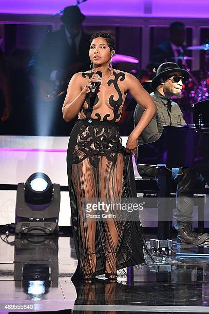 Recording artist Toni Braxton performs onstage at the UNCF 'An Evening Of Stars' at Boisfeuillet Jones Atlanta Civic Center on April 12 2015 in...