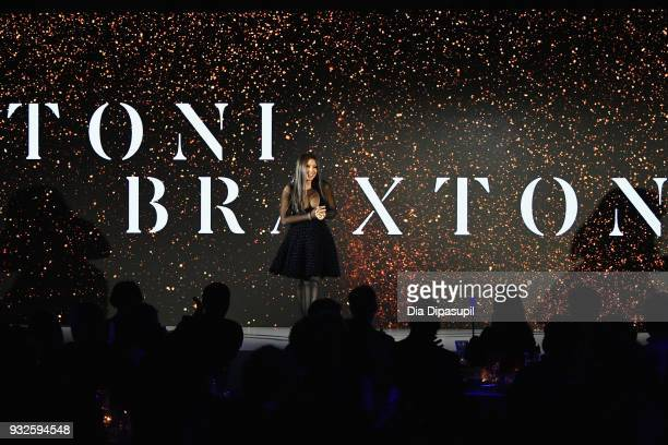 Recording artist Toni Braxton speaks at the 2018 AE Upfront on March 15 2018 in New York City