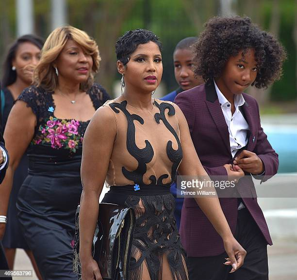 Recording artist Toni Braxton with her son Diezel Ky Braxton-Lewis attend An Evening of Stars at Atlanta Civic Center on April 12, 2015 in Atlanta,...