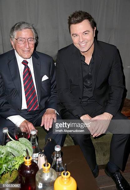 Recording artist Tony Bennett and actor/producer Seth MacFarlane attend the Republic Records Grammy Celebration presented by Chromecast Audio at Hyde...