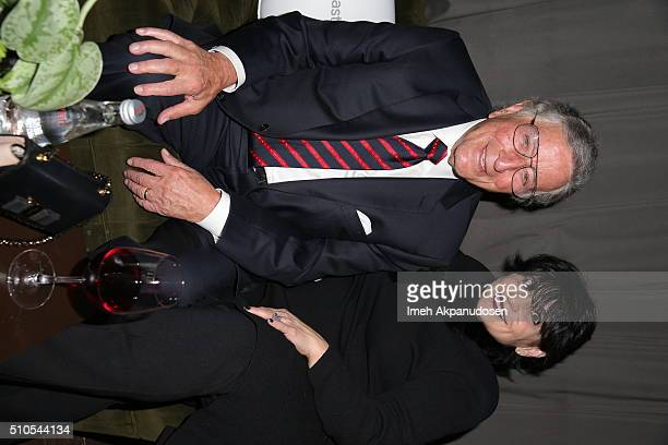 Recording artist Tony Bennett and Joan Grande attend the Republic Records Grammy Celebration presented by Chromecast Audio at Hyde Sunset Kitchen...