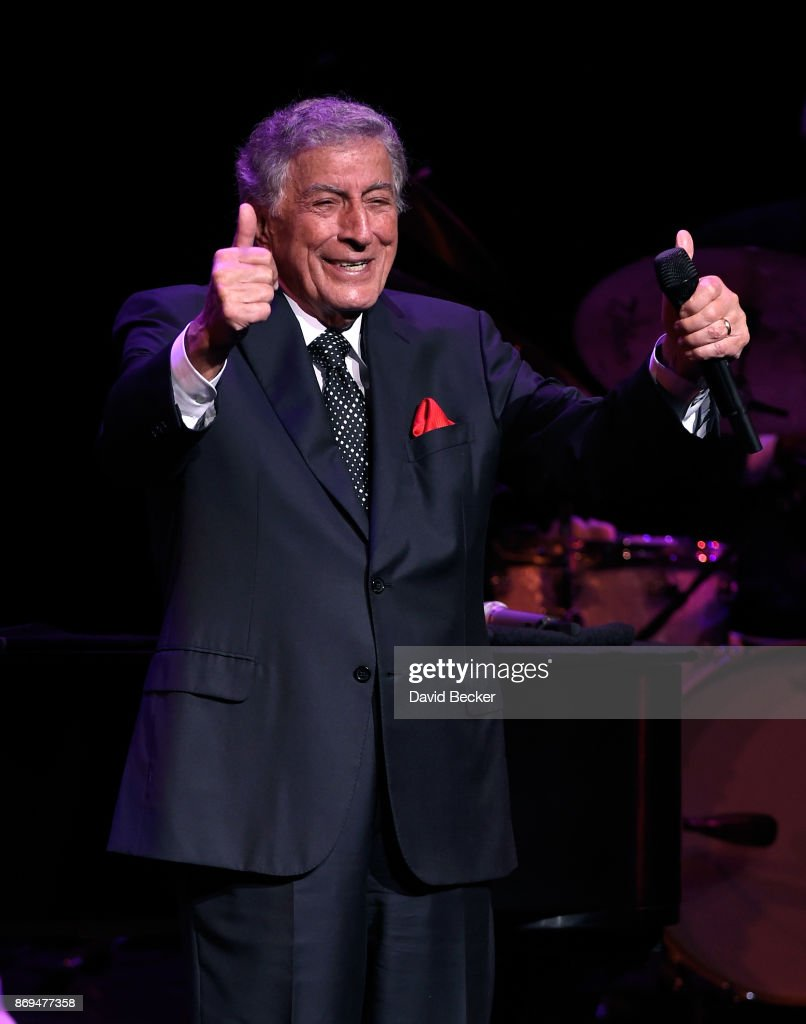 Recording artist Tony Bennett performs as he debuts his limited engagement, 'TONY: The Best Is Yet To Come' at the Encore Theater at Wynn Las Vegas on November 1, 2017 in Las Vegas, Nevada.