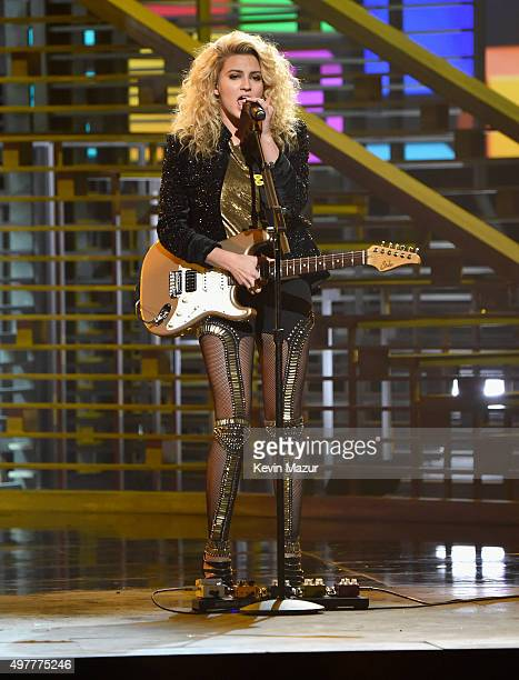 Recording artist Tori Kelly performs onstage at AE Networks 'Shining A Light' concert at The Shrine Auditorium on November 18 2015 in Los Angeles...