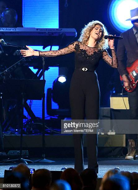 Recording artist Tori Kelly performs onstage during the 2016 MusiCares Person of the Year honoring Lionel Richie at the Los Angeles Convention Center...