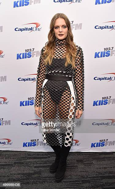 Recording artist Tove Lo attends 1027 KIIS FM's Jingle Ball 2015 Presented by Capital One at STAPLES CENTER on December 4 2015 in Los Angeles...