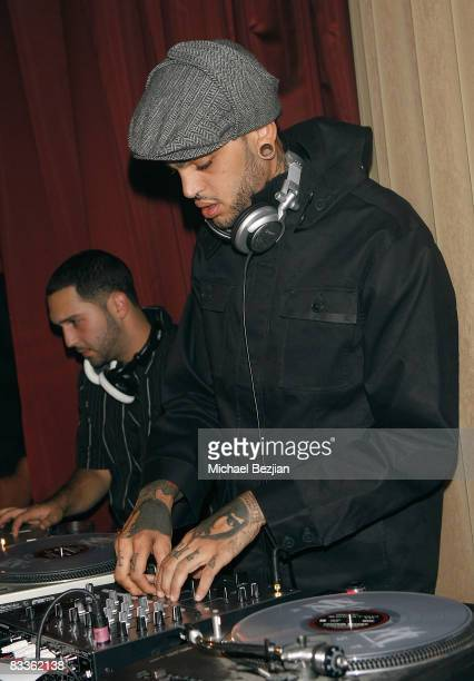 Recording artist Travis McCoy plays at Love Sessions on October 17 2008 in Los Angeles California