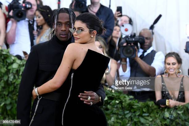 Recording artist Travis Scott and Kylie Jenner attend the Heavenly Bodies Fashion The Catholic Imagination Costume Institute Gala at The Metropolitan...