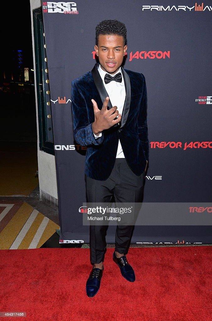 Recording artist Trevor Jackson attends his Monster 18th Birthday Party at El Rey Theatre on August 28, 2014 in Los Angeles, California.